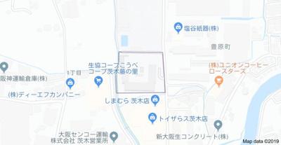 【地図】ネオコーポ茨木