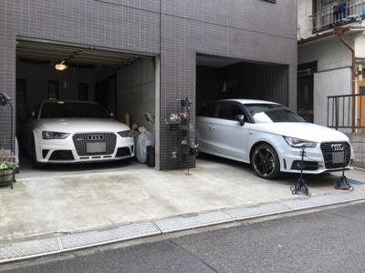 【駐車場】インナーガレージのある家。大塚駅徒歩3分!
