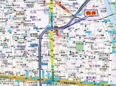 【地図】グランピア扇町