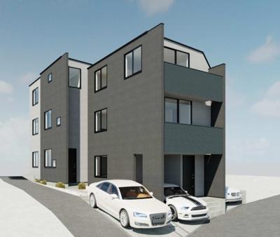 建物プラン例(A区画)3LDK、土地価格3180万円、土地面積50.09m2、建物価格1900万円、建物面積87.03m2
