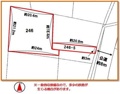 【区画図】沖縄市比屋根6丁目(157.72坪)