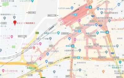 【地図】エスリード梅田西第3