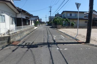 【前面道路含む現地写真】境港市誠道町売地