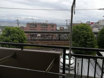 眺望です。駅が見えます。