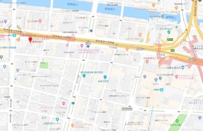 【地図】プレサンスタワー難波WEST