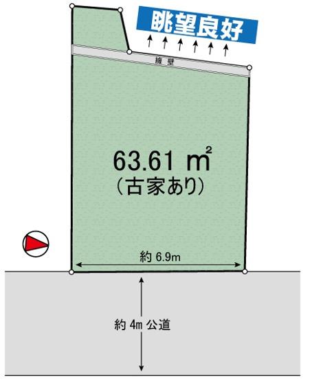 【土地図】菅仙谷1丁目 売地