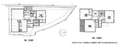 【土地図+建物プラン例】池田市畑1丁目 土地