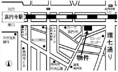 プレシャス高円寺の道案内