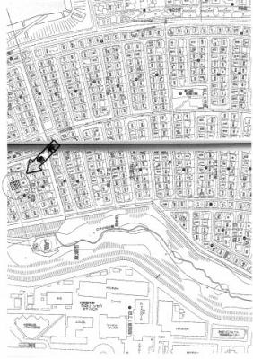 【地図】若草7丁目