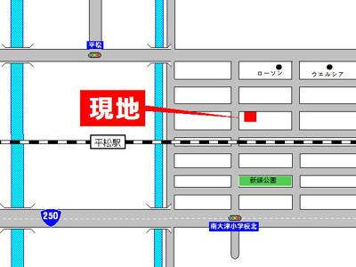 【地図】大津区新町売土地
