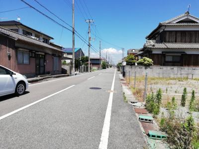【前面道路含む現地写真】大津区新町売土地