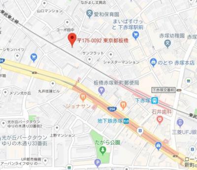 【地図】ライズ赤塚