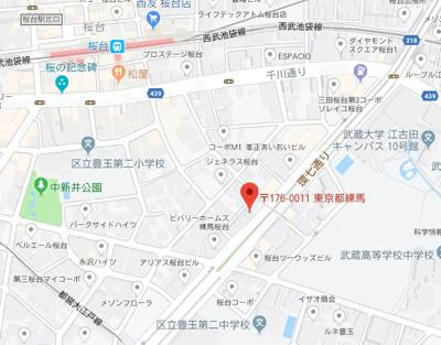 【地図】ドルチェ桜台東京ノース