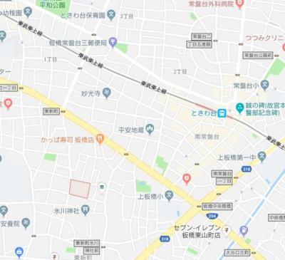 【地図】ディアネクストトキワダイ