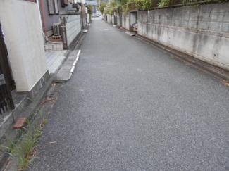 4mの前面道路です