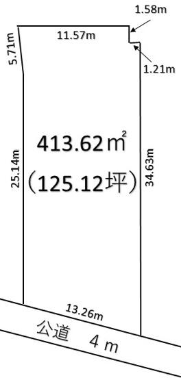 【土地図】深谷市長在家 600万 土地