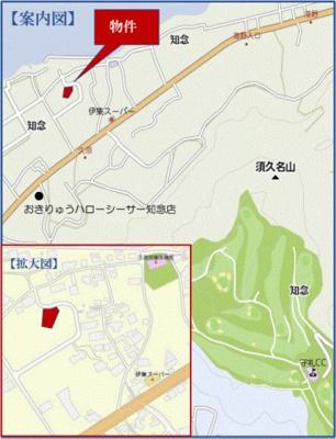 【地図】南城市知念久原 分譲住宅5号棟
