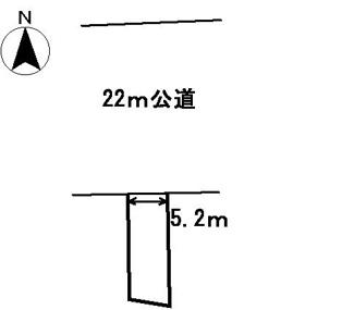 【区画図】08196 岐阜市金園町土地