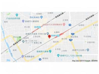 【地図】クラージュ高槻