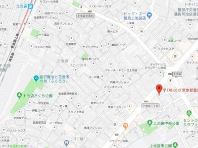 【地図】スカイコート池袋第7