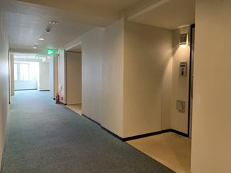 共用部の廊下はカーペット敷きです。