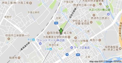 【地図】アケボノハイツ