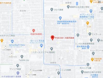 【地図】宮野町貸家 (株)Roots