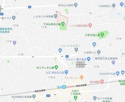 【地図】リブリ・保谷エトワール