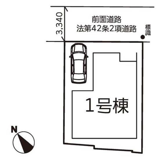 【区画図】高石市千代田4丁目 新築一戸建