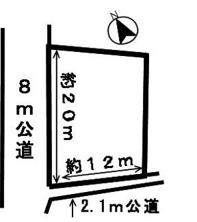 【区画図】45422 羽島市正木町須賀土地