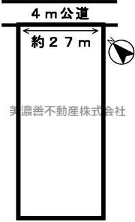 【区画図】45548 岐阜市一日市場土地