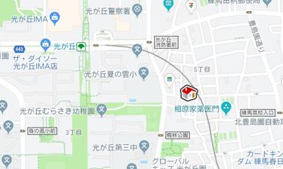 【地図】レオパレスフィールド Ⅰ(37421-108)