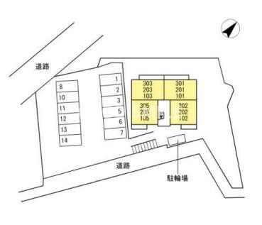 【区画図】プライムヒル若松