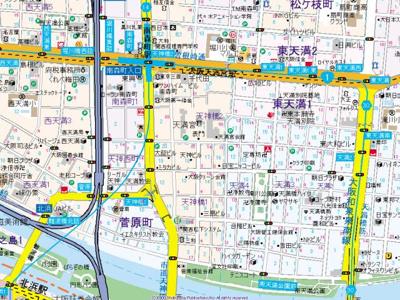 【地図】プランドール天満