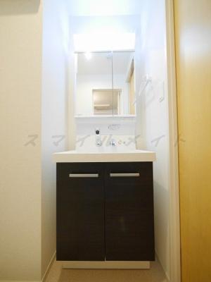 便利な独立洗面台・シャンプードレッサー・二面鏡付きです。