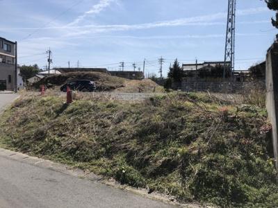 【前面道路含む現地写真】津山市押入・野介代 売土地134坪