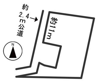 【区画図】43313 岐阜市長良土地