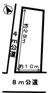 【区画図】46124 岐阜市長良土地