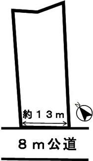 【区画図】46205 岐阜市長良古津土地
