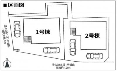 【区画図】◆駅・スーパー徒歩7分以内◆駐車2台OK◆4LDK◆ファーストタウン亀岡市第2千代川町小川