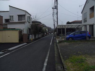 【前面道路含む現地写真】羽村市羽土地