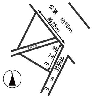 【区画図】53052 岐阜市六条大溝土地