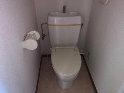 落ち着いた色調のトイレです 【COCO SMILE】