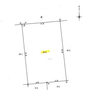 土地測量図です。