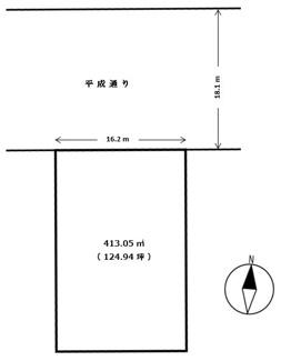 【土地図】宇都宮市新町1丁目 土地