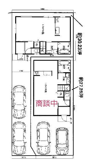 【区画図】高石市西取石 新築一戸建て