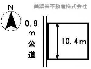 【区画図】22854 岐阜市上土居土地