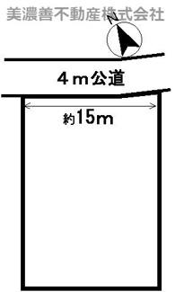 【区画図】34908 岐阜市正木土地