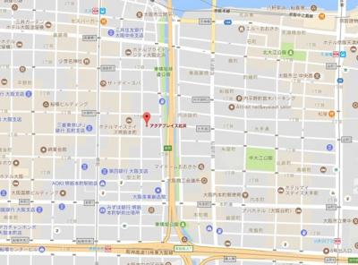【地図】アクアプレイス北浜