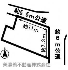 【区画図】48894 山県市高富土地